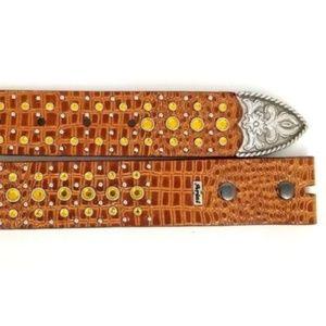 Ariat Accessories - Ariat  Womens Western Belt Leather Size 34 Rhinest